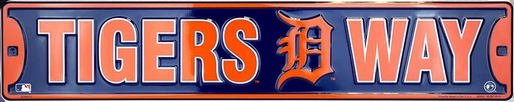 DETROIT TIGERS STREET SIGN