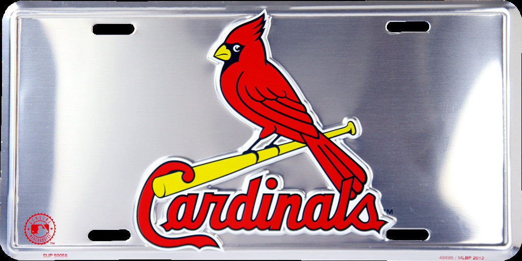 ST. LOUIS CARDINALS CHROME LICENSE PLATE