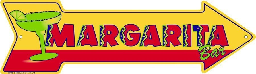 Margarita Bar Metal Arrow Sign