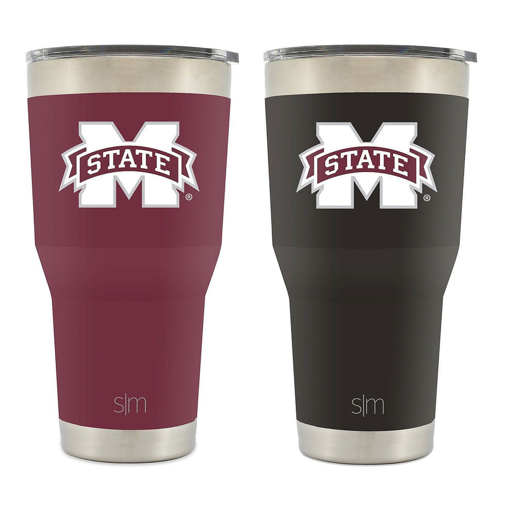 MISSISSIPPI STATE BULLDOGS VACUUM INSULATED STAINLESS TUMBLER 30OZ 2 PK SIMPLE