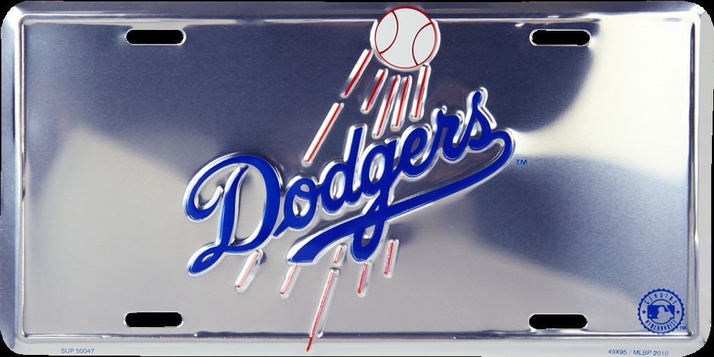 LOS ANGELES LA DODGERS CAR TRUCK TAG CHROME LICENSE PLATE EMBOSSED METAL SIGN