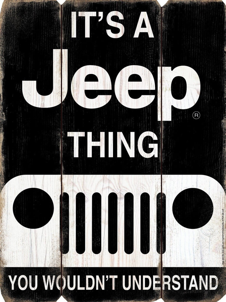 IT'S A JEEP THING WALL ART SIGN