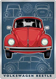 VOLKSWAGEN BEETLE METAL EMBOSSED SIGN