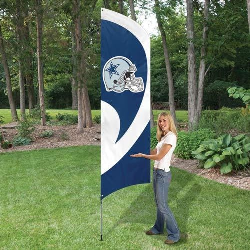 DALLAS COWBOYS 8.5 FOOT TALL TEAM FLAG 11.5' POLE SIGN BANNER UNIVERSITY 8 1/2'