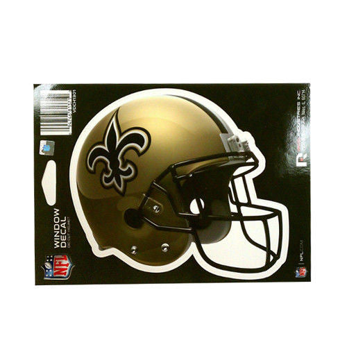 "NEW ORLEANS SAINTS HELMET WINDOW DECAL 5.25"" X 6.25"" FLEUR DE LIS NFL STICKER"