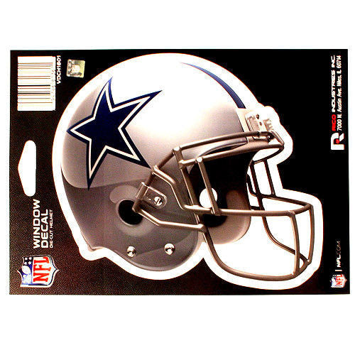 "DALLAS COWBOYS HELMET WINDOW DECAL 5.25"" X 6.25"" NFL STICKER CAR TRUCK DIE-CUT"
