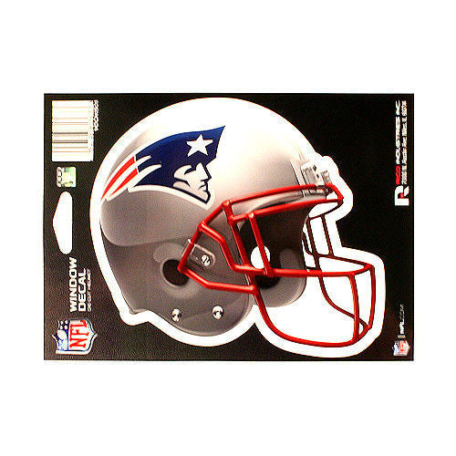"NEW ENGLAND PATRIOTS HELMET WINDOW DECAL 5.25"" X 6.25"" NFL STICKER CAR  DIE-CUT"