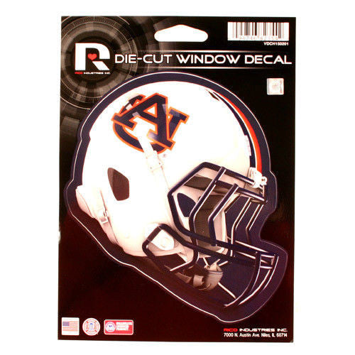 "AUBURN TIGERS  HELMET WINDOW DECAL 5.25"" X 6.25"" STICKER CAR TRUCK DIE-CUT"
