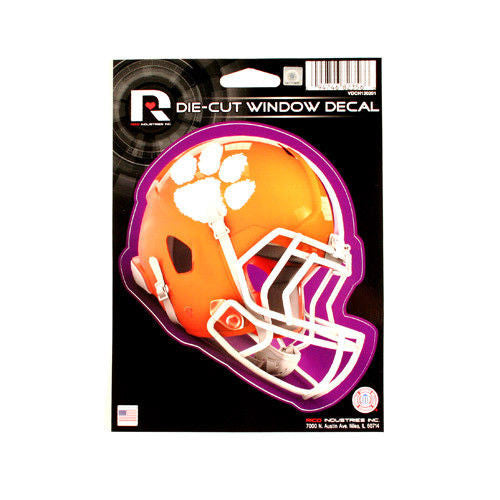 "CLEMSON TIGERS HELMET WINDOW DECAL 5.25"" X 6.25"" STICKER CAR TRUCK DIE-CUT"