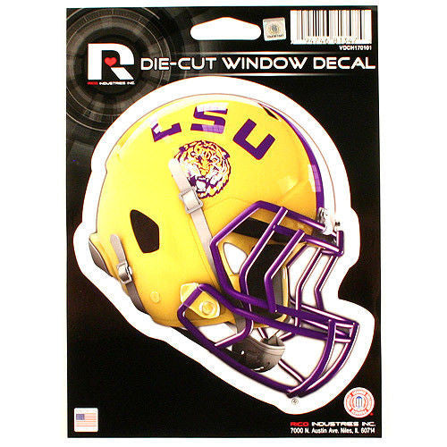 "Lsu Tigers Decal Sticker Helmet Window  5.25"" X 6.25"""
