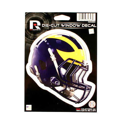 "MICHIGAN WOLVERINES HELMET WINDOW DECAL 5.25"" X 6.25"" STICKER CAR TRUCK DIE-CUT"