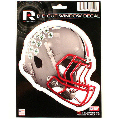 "OHIO STATE BUCKEYES HELMET WINDOW DECAL 5.25"" X 6.25"" STICKER CAR TRUCK DIE-CUT"