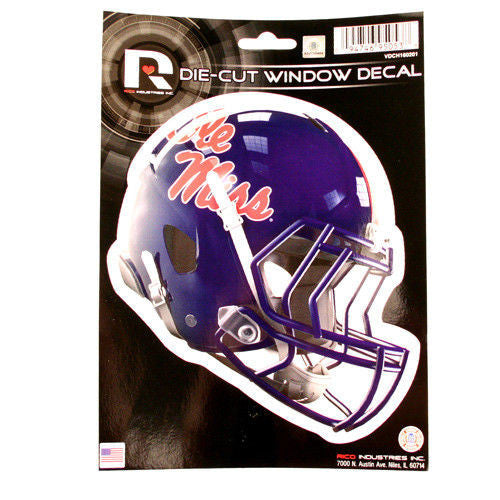 Ole Miss Rebels Helmet Window Decal Sticker Die Cut