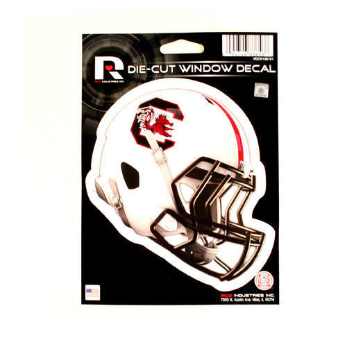 "SOUTH CAROLINA GAMECOCKS HELMET WINDOW DECAL 5.25"" X 6.25"" STICKER CAR DIE-CUT"