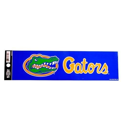 "FLORIDA GATORS BUMPER STICKER 11"" X 3"" FOOTBALL NCAA CAR TRUCK DECAL UNIVERSITY"