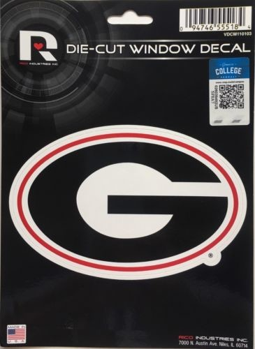 "Georgia Bulldogs Window Decal 5.25"" X 6.25"" Sticker Car Truck Die-Cut"