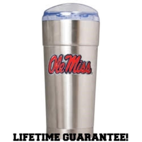 OLE MISS REBELS DRINKWARE VACUUM INSULATED STAINLESS STEEL TUMBLER 24OZ