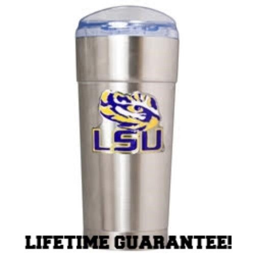 LSU TIGERS DRINKWARE VACUUM INSULATED STAINLESS STEEL TUMBLER 24OZ