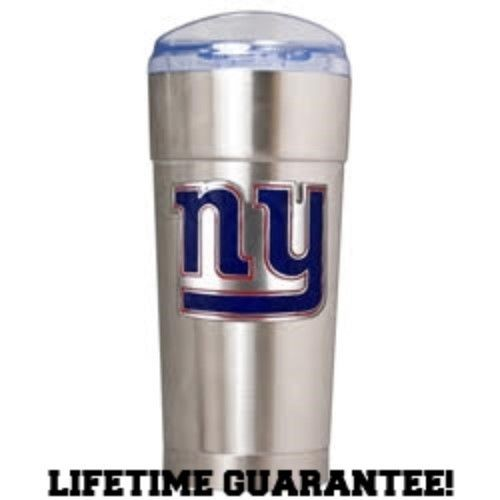NEW YORK GIANTS VACUUM INSULATED STAINLESS STEEL TUMBLER 24OZ TRAVEL BPA FREE