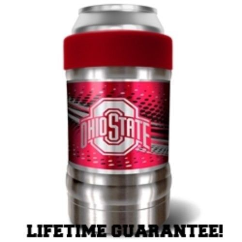 OHIO STATE BUCKEYES VACUUM INSULATED STAINLESS STEEL CAN/BOTTLE HOLDER LOCKER
