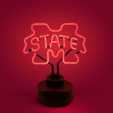 MISSISSIPPI STATE BULLDOGS NEON SIGN LIGHT LAMP MSU UNIVERSITY MAN CAVE