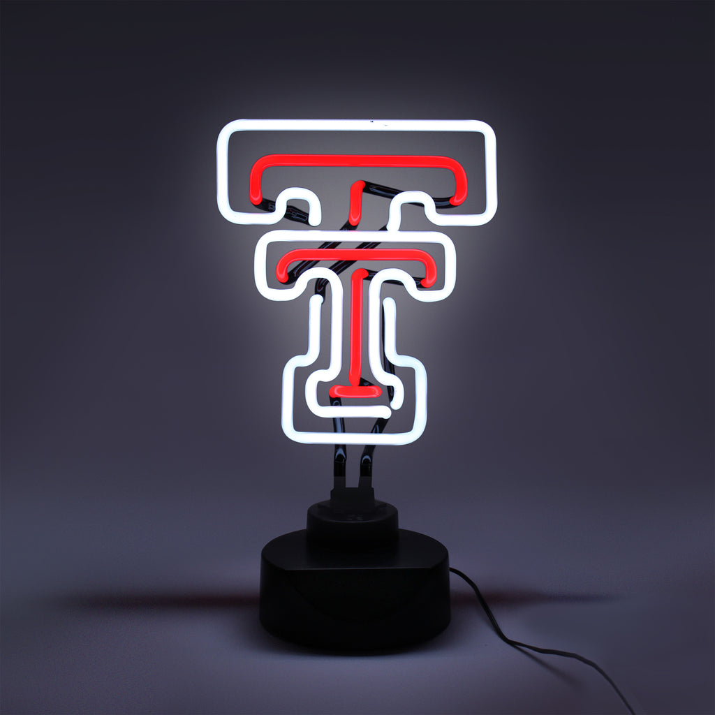 TEXAS TECH RED RAIDERS NEON SIGN LIGHT LAMP UNIVERSITY MAN CAVE GAME ROOM OFFICE