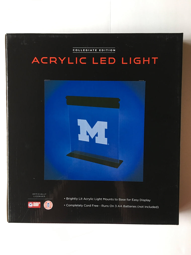Michigan Wolverines Acrylic Led Sign