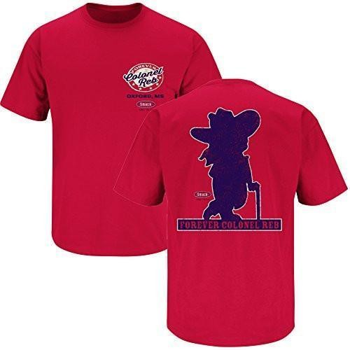 OLE MISS REBELS COLONEL REB FOREVER RED OXFORD MS T-SHIRT NCAA SMACK