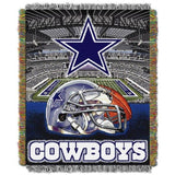 DALLAS COWBOYS HOME FIELD ADVANTAGE WOVEN TAPESTRY THROW TEXAS FOOTBALL