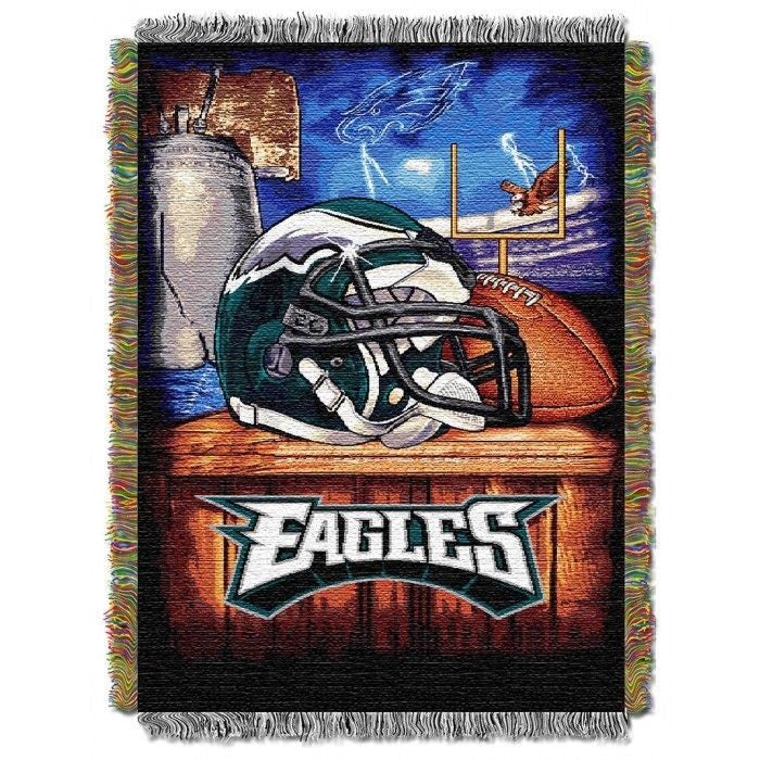 PHILADELPHIA EAGLES HOME FIELD ADVANTAGE WOVEN TAPESTRY THROW FOOTBALL