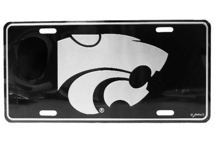 KANSAS STATE WILDCATS ELITE CAR TRUCK TAG LICENSE PLATE BLACK SIGN STATE