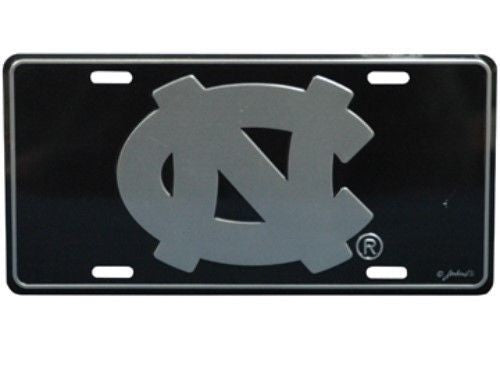 NORTH CAROLINA TAR HEELS ELITE CAR TRUCK TAG LICENSE PLATE BLACK SIGN UNIVERSITY