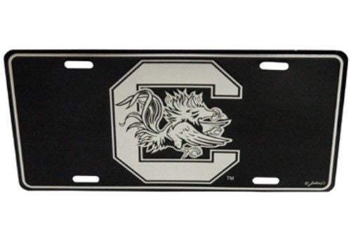 SOUTH CAROLINA GAMECOCKS ELITE CAR TRUCK TAG LICENSE PLATE BLACK SIGN UNIVERSITY