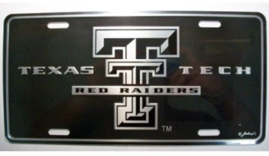 TEXAS TECH RED RAIDERS ELITE CAR TRUCK TAG LICENSE PLATE BLACK SIGN UNIVERSITY