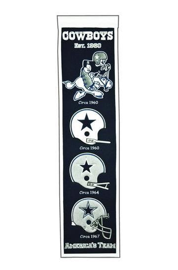 DALLAS COWBOYS HERITAGE BANNER NFL MAN CAVE GAME ROOM OFFICE TEXAS
