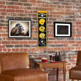 PITTSBURGH STEELERS HERITAGE BANNER NFL MAN CAVE GAME ROOM OFFICE