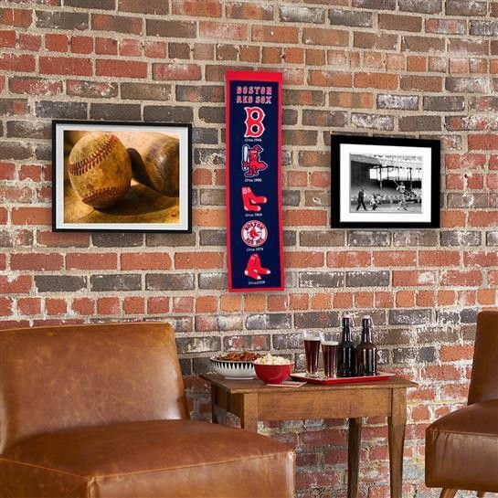 BOSTON RED SOX HERITAGE BANNER MLB MAN CAVE GAME ROOM OFFICE