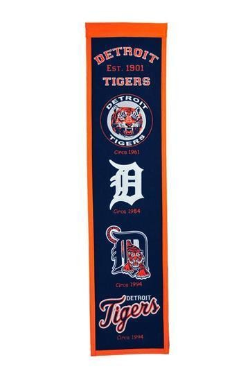 DETROIT TIGERS HERITAGE BANNER MLB MAN CAVE GAME ROOM OFFICE
