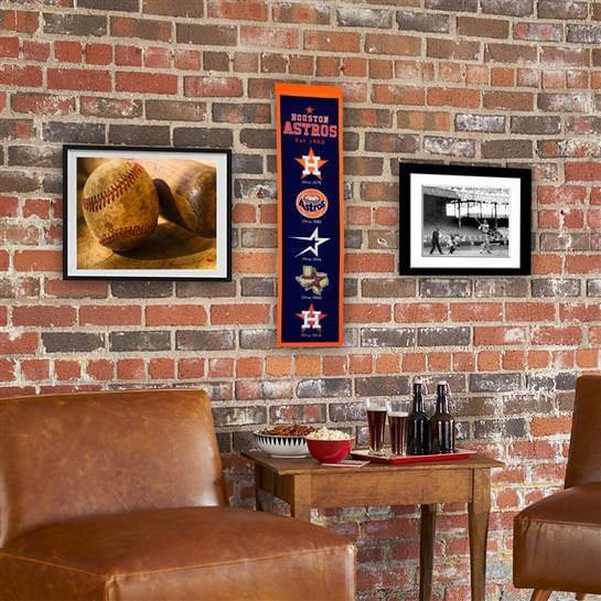 HOUSTON ASTROS HERITAGE BANNER MLB MAN CAVE GAME ROOM OFFICE