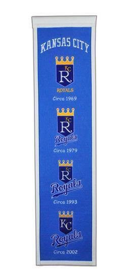 KANSAS CITY ROYALS HERITAGE BANNER MLB MAN CAVE GAME ROOM OFFICE