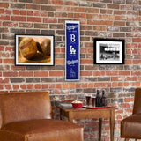 Los Angeles Dodgers Heritage Banner Mlb Man Cave Game Room Office La