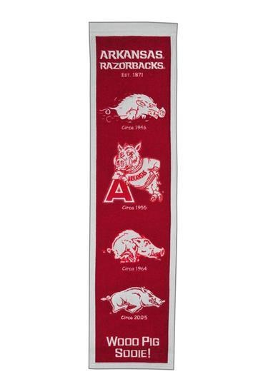 ARKANSAS RAZORBACKS HERITAGE BANNER UNIVERSITY NCAA