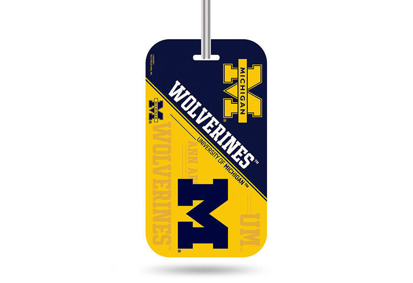 MICHIGAN WOLVERINES ID TRAVEL CRYSTAL VIEW LUGGAGE TEAM TAG