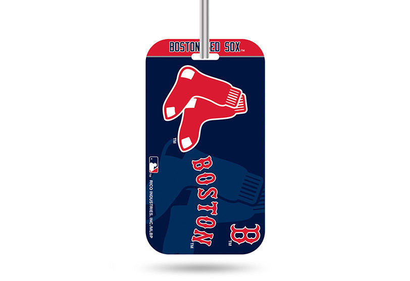 BOSTON RED SOX ID TRAVEL CRYSTAL VIEW BASEBALL LUGGAGE TEAM TAG BAG MLB