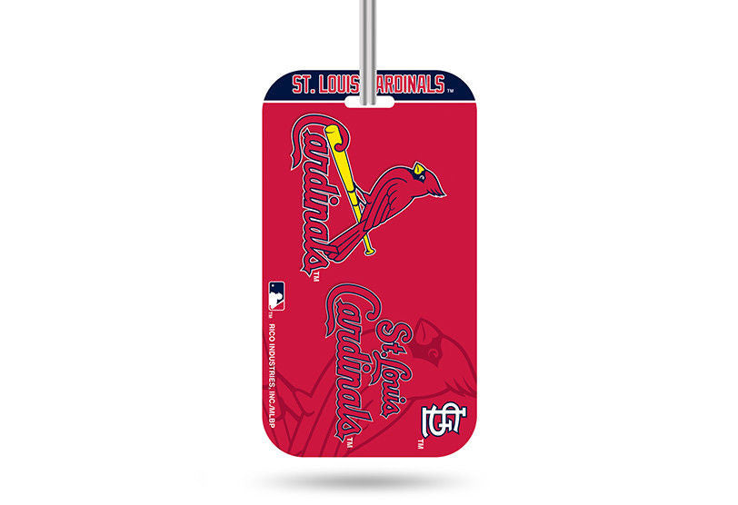 ST. LOUIS CARDINALS ID TRAVEL CRYSTAL VIEW BASEBALL LUGGAGE TEAM TAG