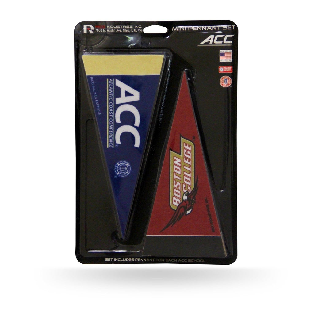 "ACC ATLANTIC COAST CONFERENCE MINI PENNANT SET 10"" 15 PC"