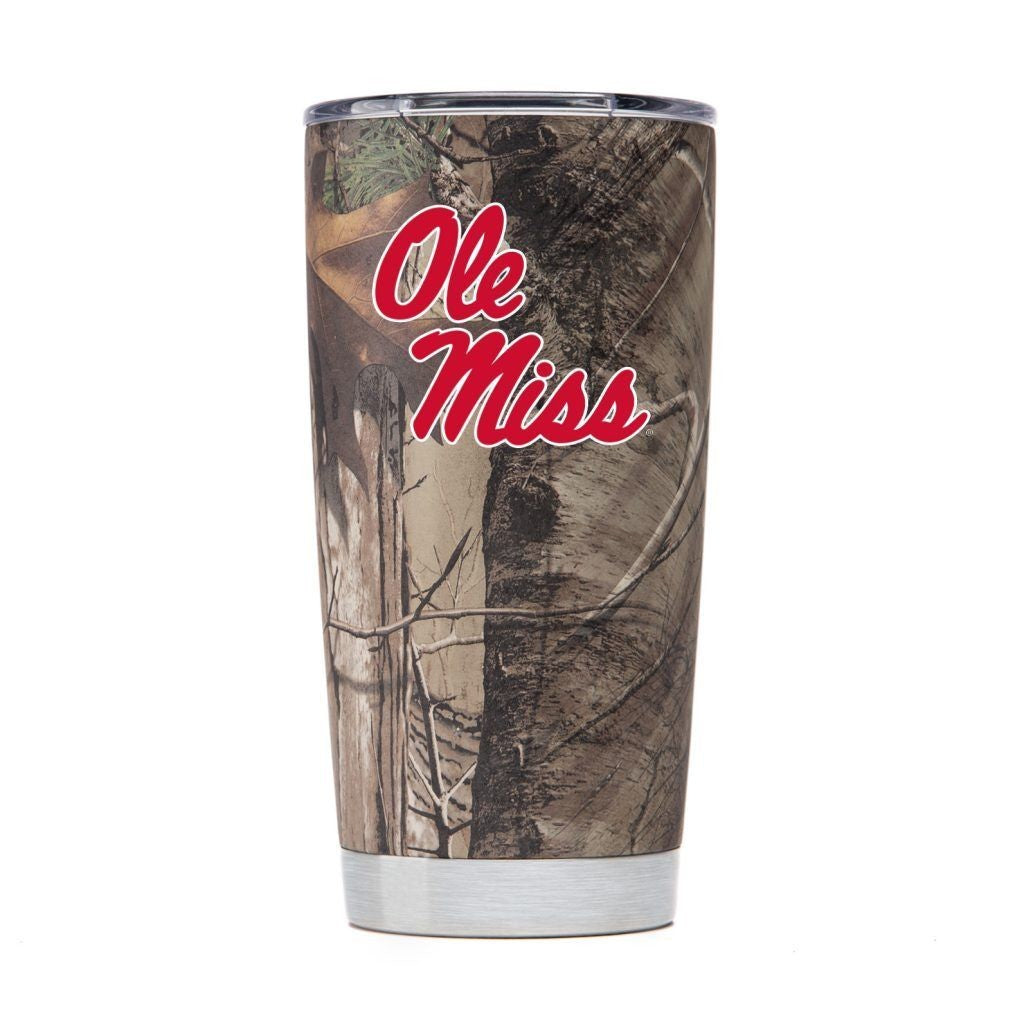 OLE MISS REBELS DRINKWARE VACUUM INSULATED TUMBLER CAMO 20 OZ