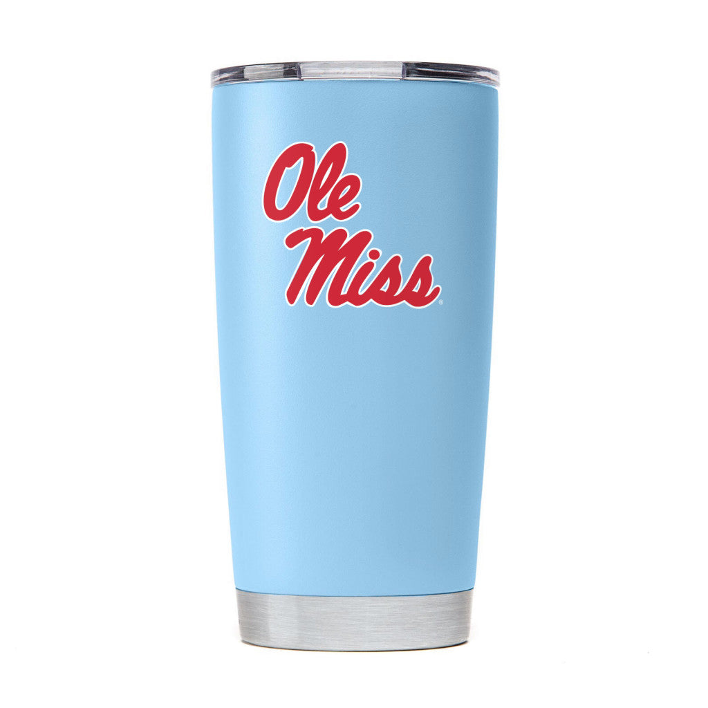 OLE MISS REBELS DRINKWARE VACUUM INSULATED TUMBLER POWDER BLUE 20 OZ