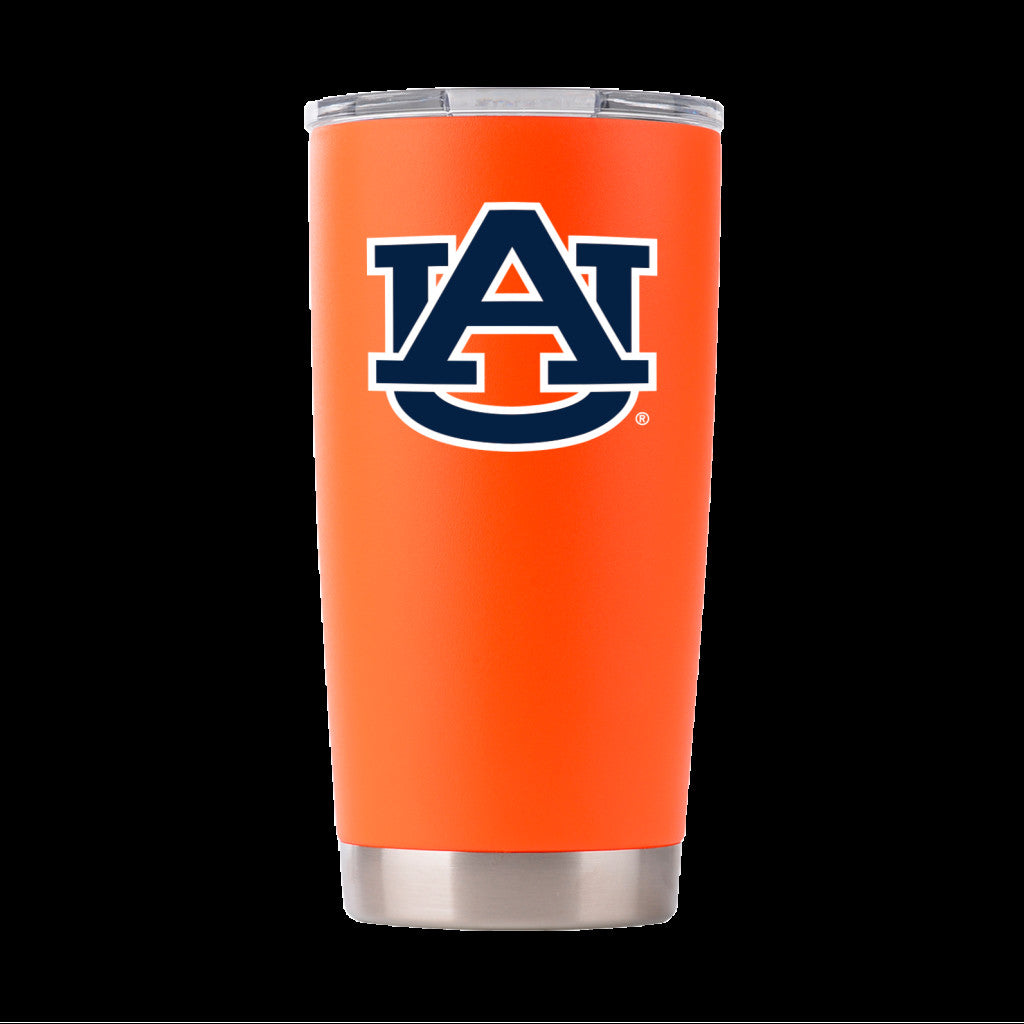 AUBURN TIGERS 20 OZ ORANGE INSULATED TUMBLER