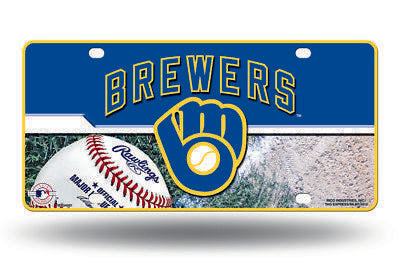 MILWAUKEE BREWERS CAR TAG METAL